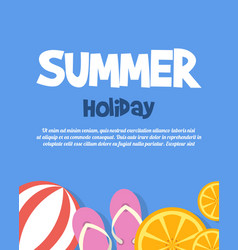holiday summer happy tropical paradise vector image