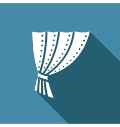 Iron curtain icon vector