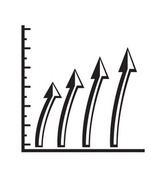 isolated business graph vector image