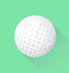 Isolated golf ball flat icon with shadow vector