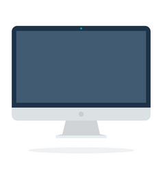 large computer monitor vector image
