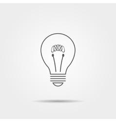 Lightbulb thin line icon vector image