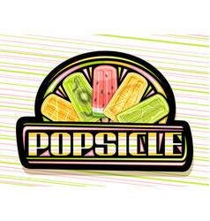 Logo for fruit popsicle vector