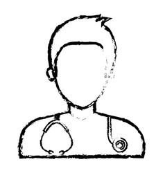 Male doctor avatar character vector