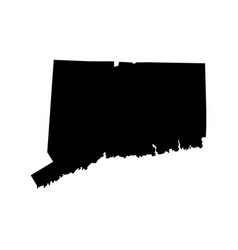 map us state connecticut vector image