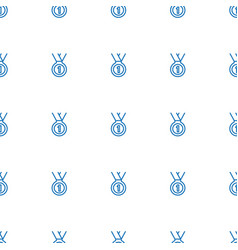 Medal icon pattern seamless white background vector