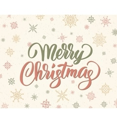 Merry christmas brush lettering against background vector