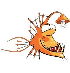 Monkfish Deep-water fish Cartoon vector