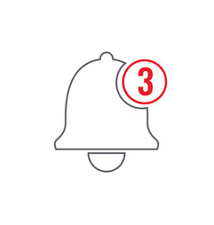 Notification bell icon for incoming inbox message vector