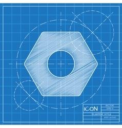 Nut icon Eps10 vector