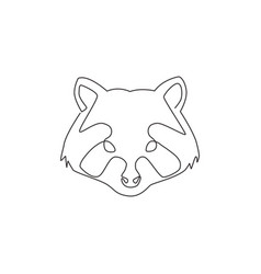 one continuous line drawing wild but cute head vector image
