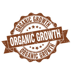 organic growth stamp sign seal vector image