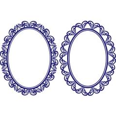 Oval frame vector