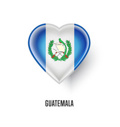 patriotic heart symbol with guatemala flag vector image