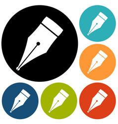 Pen quill icon vector