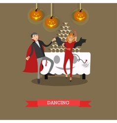 People in vampire and bat costumes party Happy vector image