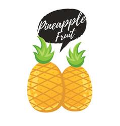 Pineapple tropical sweet summer fruit vector