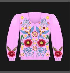 Pink sweatshirt template vector