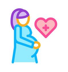 Pregnant woman color icon vector