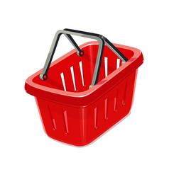 red plastic basket vector image