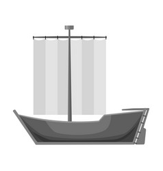 Sailboat the boat sails from the wind water vector