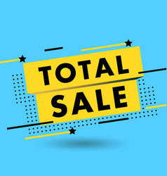 sale banner discounts and vector image