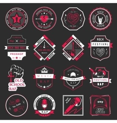 Set of logos and badges music vector image
