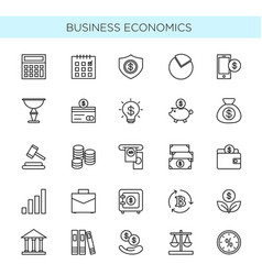 set thin line icons of vector image