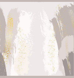 sparkled glittern golden splashes on pastel grey vector image