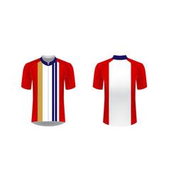 sportswear design blank vector image