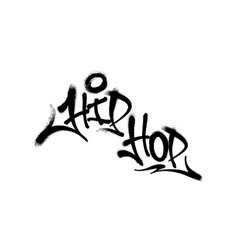 Sprayed hip hop font graffiti with overspray vector