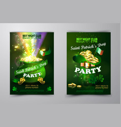 st patrick s day poster design template vector image