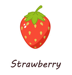 strawberry icon isometric style vector image