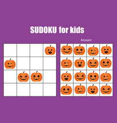 Sudoku game for children kids activity sheet vector