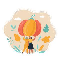 thanksgiving pumpkin autumn vector image