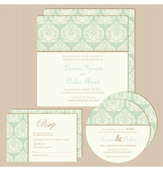 vintage invitation set vector image