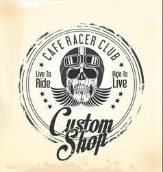 vintage motorcycle retro background 1 vector image
