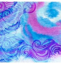 Watercolor aqua background-abstract hand drawn vector
