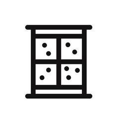 winter window icon window and snow fall symbol vector image