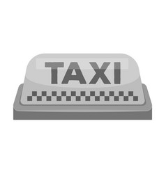 Yellow checker taxi with logoequipment taxi vector