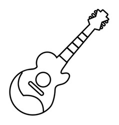 acoustic guitar icon outline style vector image