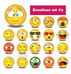 Set of emoticons N6 vector image vector image