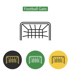 soccer gate icon vector image