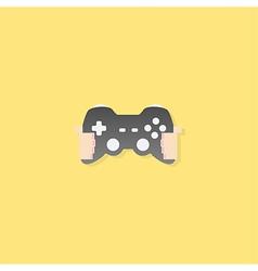 cartoon doodle Hand in Joy games vector image vector image