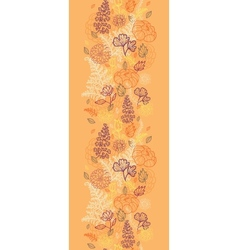 Desert flowers and leaves vertical seamless vector image vector image