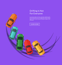 drifting cars with multiple tire tracks vector image