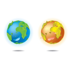 LOVE EARTH vector image vector image