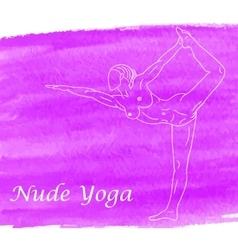 Nude yoga vector image