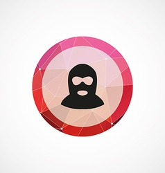 offender circle pink triangle background icon vector image vector image