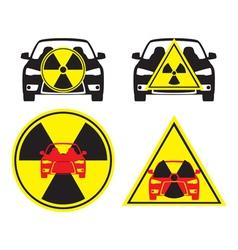 radioactive car vector image